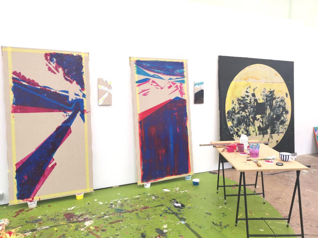 GILDEMYN Sisyphus II 2020 grote werken 02 atelierzicht - start to collect - art design